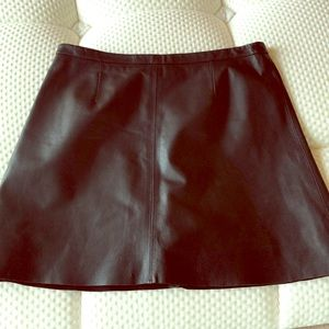 Cupcakes & Cashmere Leather Skirt